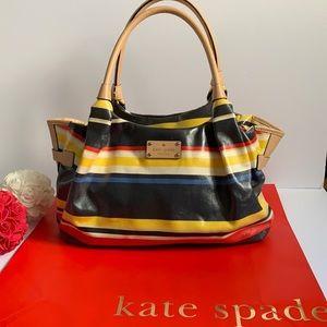 🔥Kate Spade colorful medium size striped bag 🔥